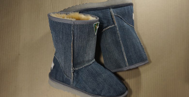 Sheepskin Denim 3/4 Ugg Boots